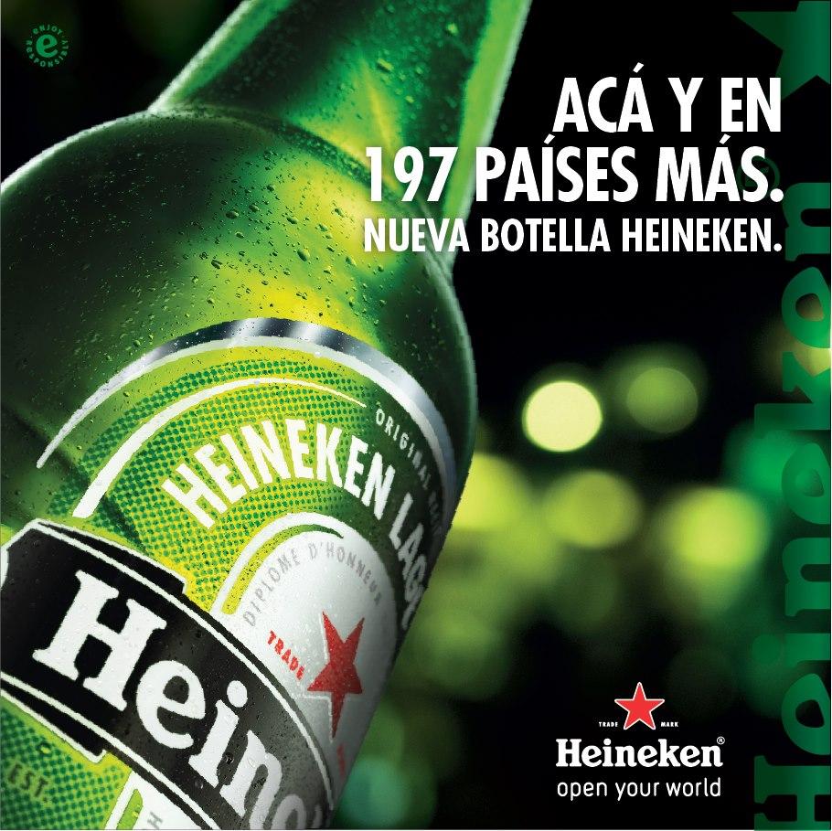 Nueva Botella Heineken 1000 cc.