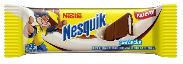 Barra de chocolate rellena Nesquik
