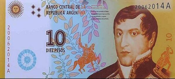 Billete 10 pesos