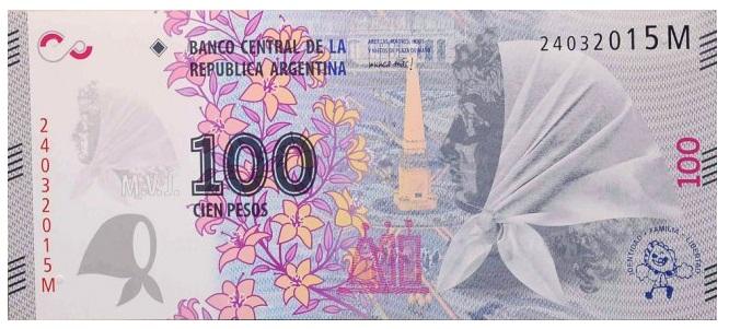 Billete 100 abuelas plaza de mayo